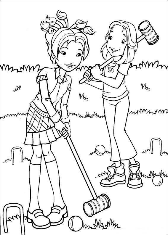 Kids N Fun Hollie Speelt Croquet