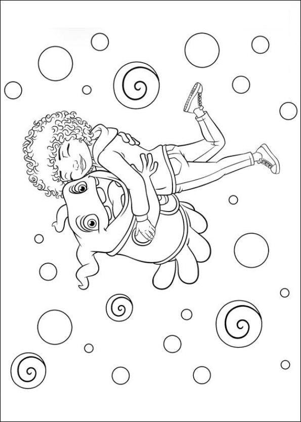 Kids n fun 25 kleurplaten van home dreamworks for Dreamworks coloring pages