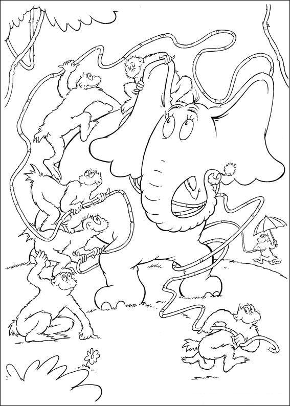 horton coloring pages - kids n fun horton