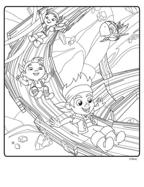 Kids n fun 9 kleurplaten van jake en de nooitgedacht piraten for Jake neverland pirates coloring pages