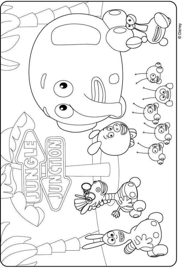 kidsnfun  7 kleurplaten van jungle junction