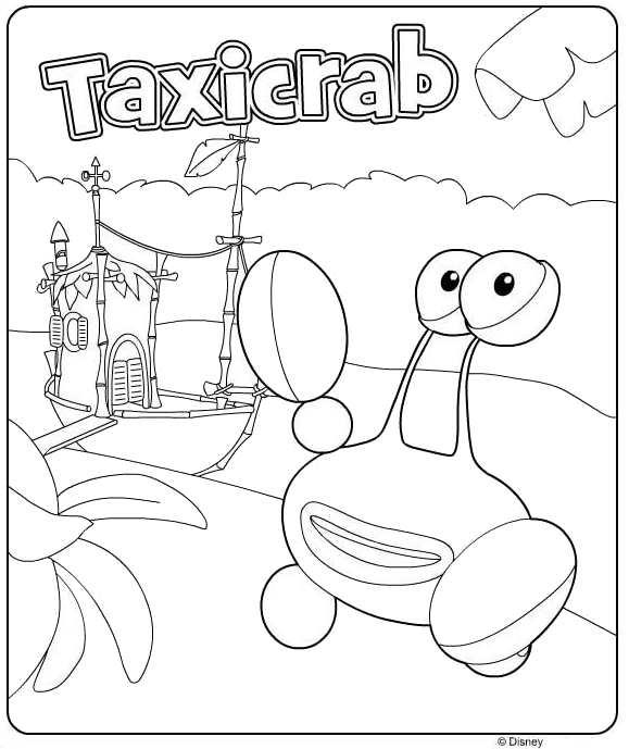 Kids N Fun Kleurplaat Jungle Junction Taxicrab