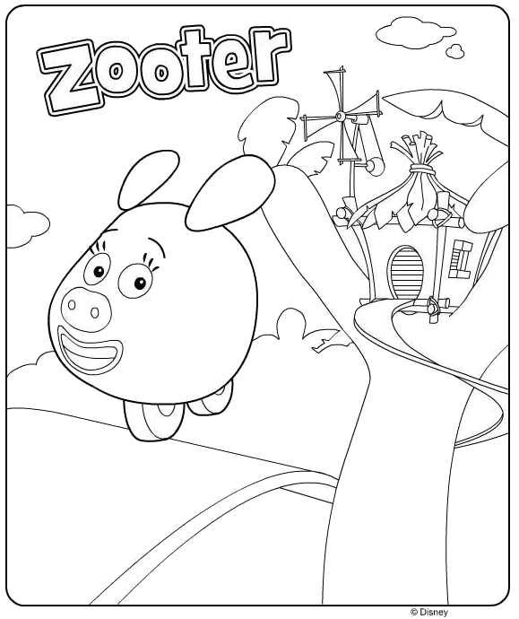Kids N Fun Kleurplaat Jungle Junction Zooter
