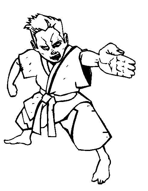 Kidsnfun Kleurplaat Karate