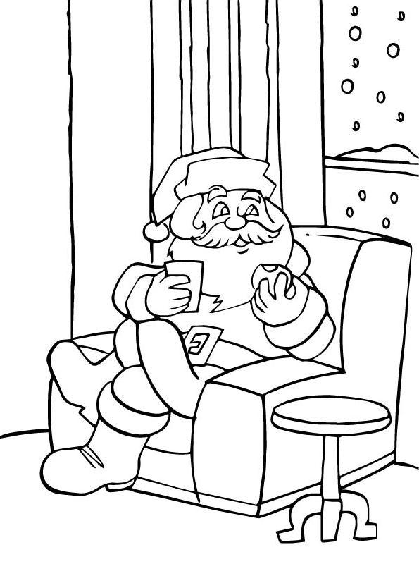 n kleurplaat kerstmis de kerstman kerstmis de