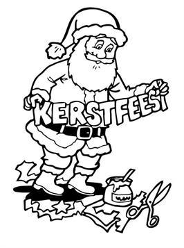 Kleurplaten Kerst A4.Kids N Fun 85 Kleurplaten Van Kerstmis De Kerstman