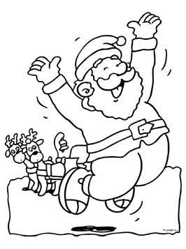 Kerst Kleurplaten Kerstman.Kids N Fun 85 Kleurplaten Van Kerstmis De Kerstman