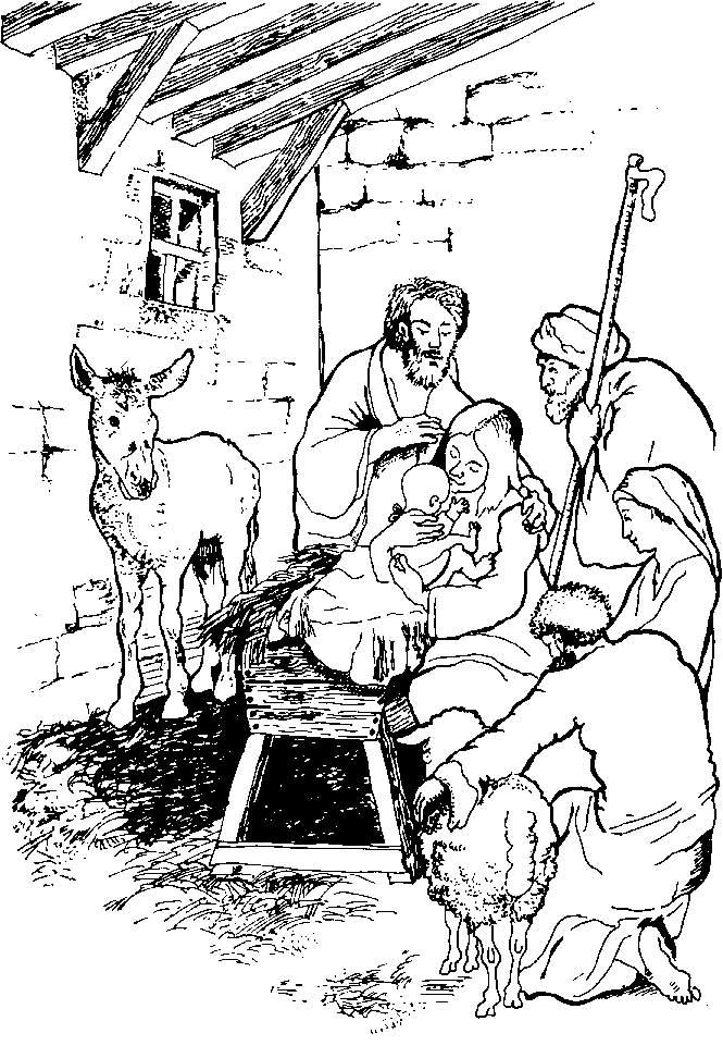 Kerst Jesus Kleurplaten Kids N Fun Kleurplaat Bijbel Kerstverhaal De Herders In