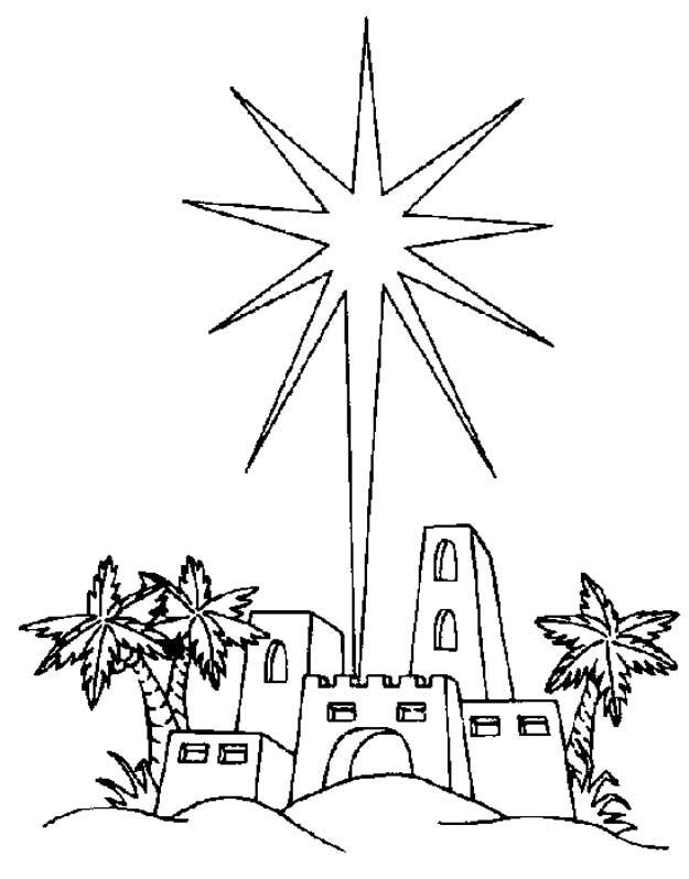 Kids N Fun Kleurplaat Bijbel Kerstverhaal De Ster Van