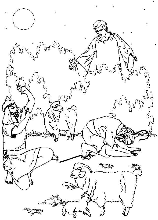 Kleurplaten Kerst Engel Maria Kids N Fun 31 Kleurplaten Van Bijbel Kerstverhaal