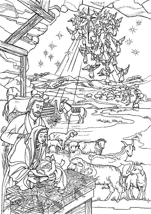 Kleurplaat Herders Kerst Kids N Fun 31 Kleurplaten Van Bijbel Kerstverhaal