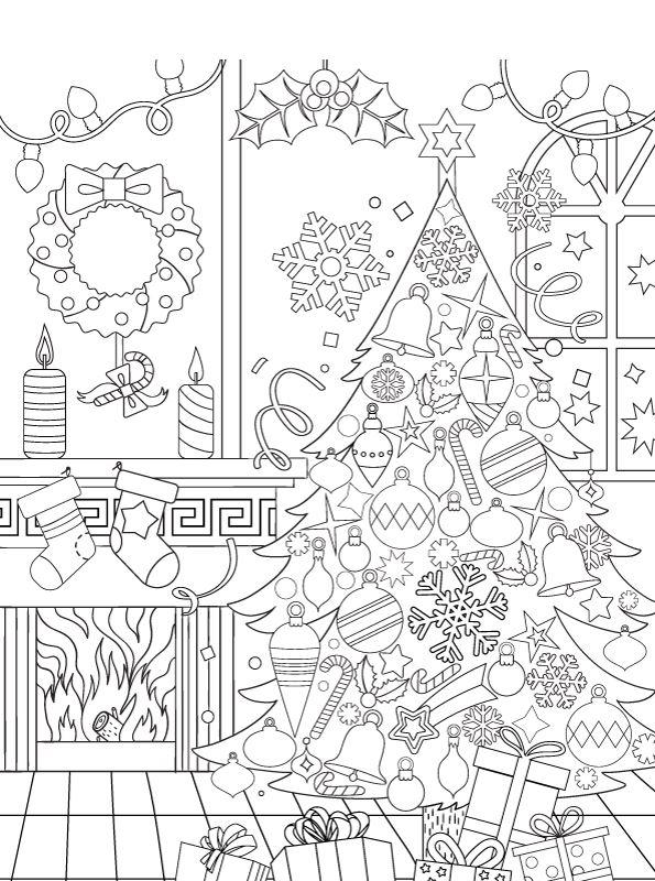 Kleurplaten Voor Volwassenen Kerst.Kids N Fun Kleurplaat Kerstmis Voor Volwassenen Kerstmis