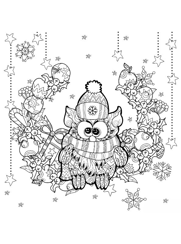 n kleurplaat kerstmis voor volwassenen kerstmis