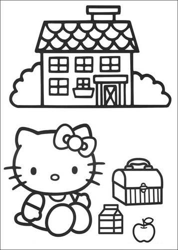 Kleurplaten Hello Kitty Printen.Kids N Fun 54 Kleurplaten Van Hello Kitty