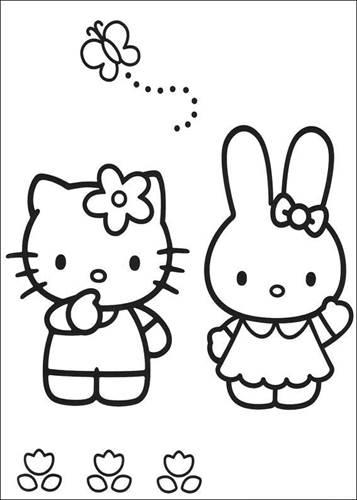 Kleurplaten Met Hello Kitty.Kids N Fun 54 Kleurplaten Van Hello Kitty
