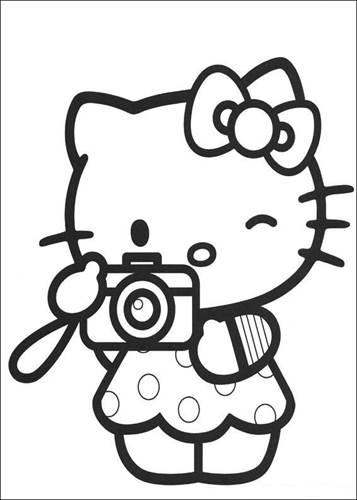 Kleurplaten Van Hello Kitty Verjaardag.Kids N Fun 54 Kleurplaten Van Hello Kitty