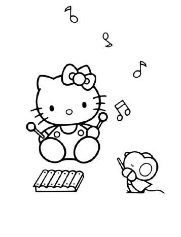 Kleurplaten Hello Kitty Uitprinten.Kids N Fun 54 Kleurplaten Van Hello Kitty