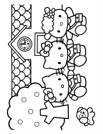 Kleurplaten Afdrukken Hello Kitty.Kids N Fun 54 Kleurplaten Van Hello Kitty