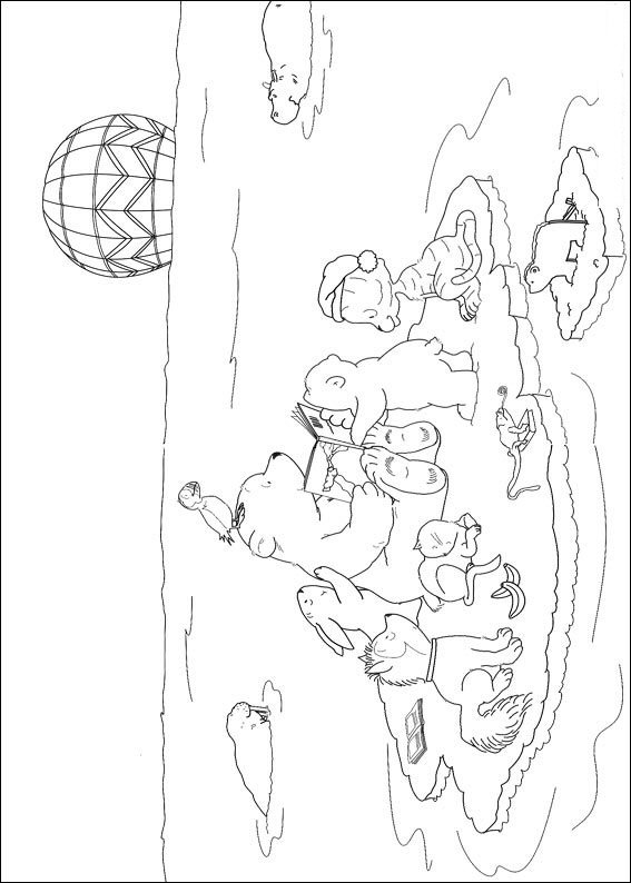 Kids N Fun 38 Kleurplaten Van Lars De Kleine Ijsbeer Op Avontuur