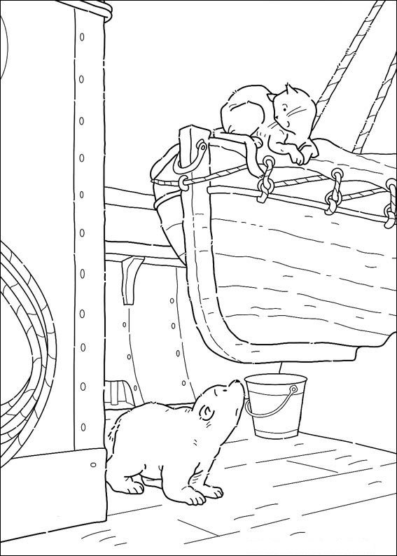 Kids N Fun Kleurplaat Lars De Kleine Ijsbeer Op Avontuur Kleine