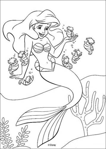 Kleurplaten Van Ariel Zeemeermin.Kids N Fun 34 Kleurplaten Van De Kleine Zeemeermin