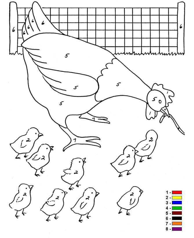 Favoriete Kids-n-fun | 12 Kleurplaten van Kleur op nummer Boerderij ZC77