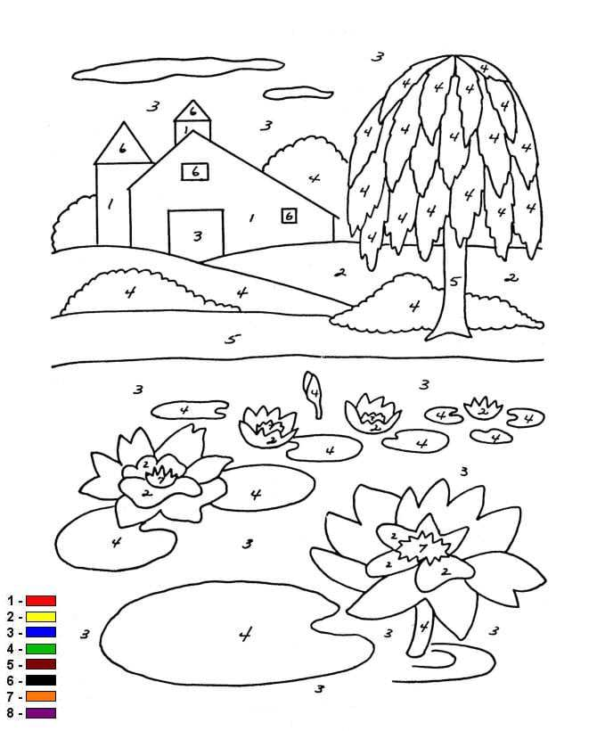 Kleuren Op Nummer Kleurplaten.Kids N Fun Kleurplaat Kleur Op Nummer Boerderij Kleur Op Nummer