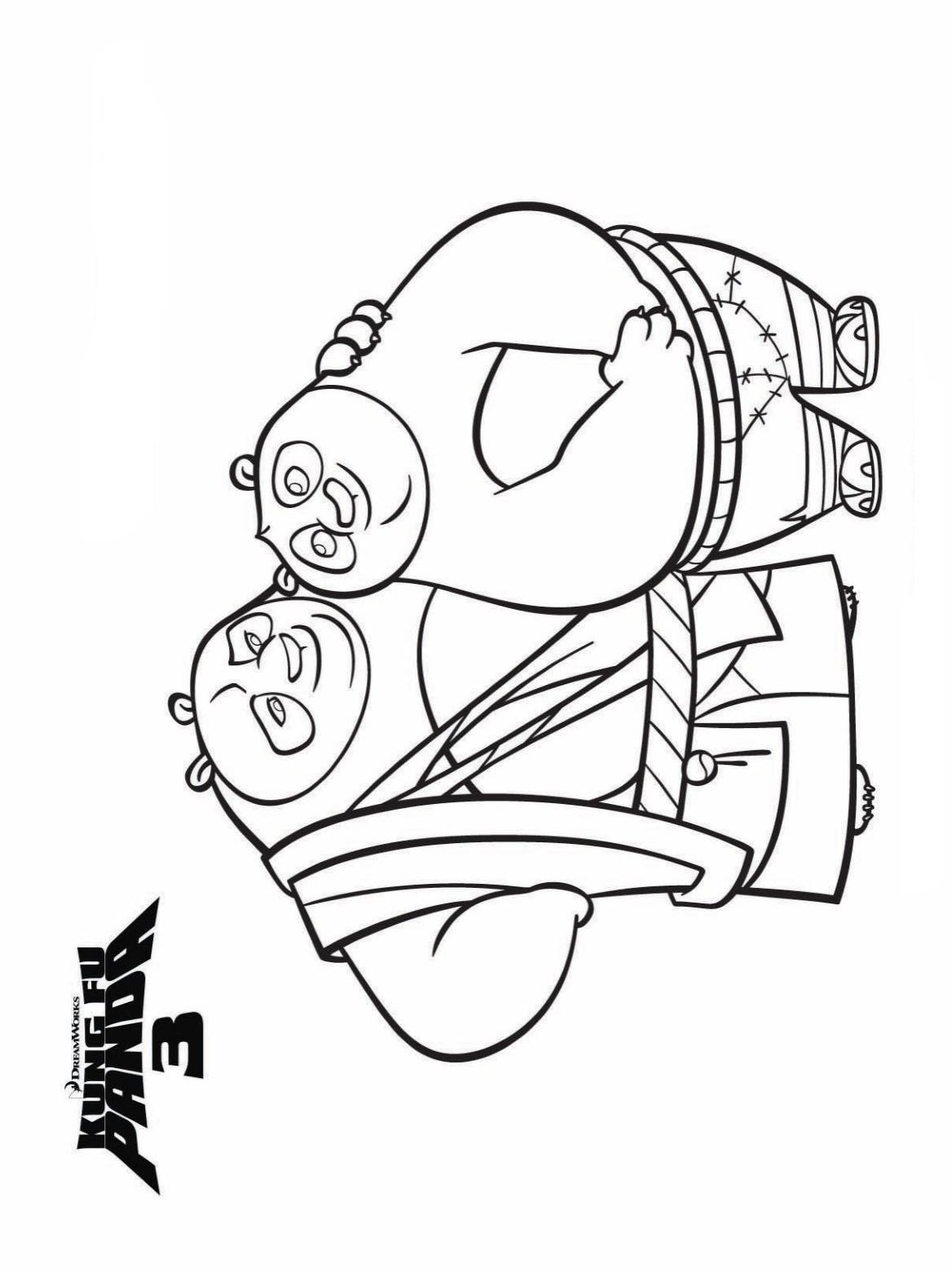 Kung Fu Panda 3 Free Coloring Pages