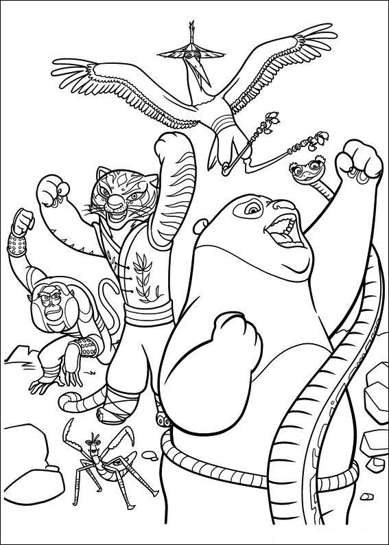 Kung Fu Panda 2 Kleurplaten - ARCHIDEV