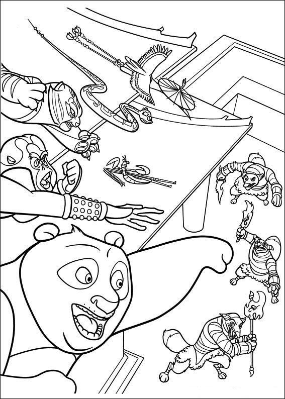 Kleurplaat Kung Fu Panda 2 - ARCHIDEV