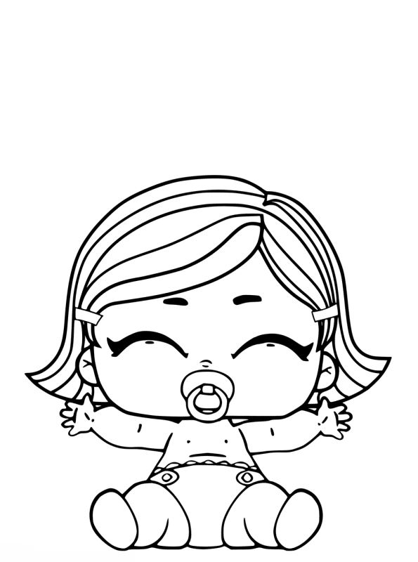 Kidsnfun Kleurplaat LOL Surprise dolls Lil Sisters