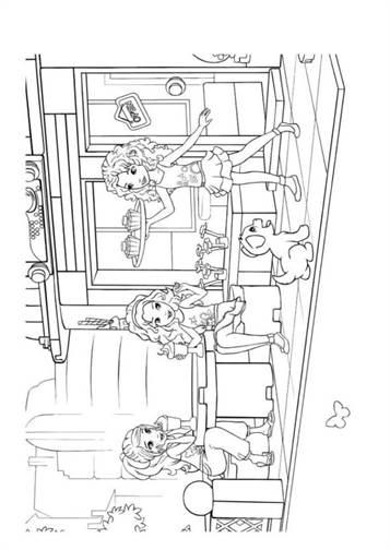 Kleurplaten Lego Friends Dieren.Kids N Fun 20 Kleurplaten Van Lego Friends
