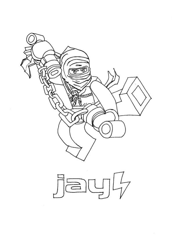 ninjago coloring pages jay - kids n fun 42 kleurplaten van lego ninjago