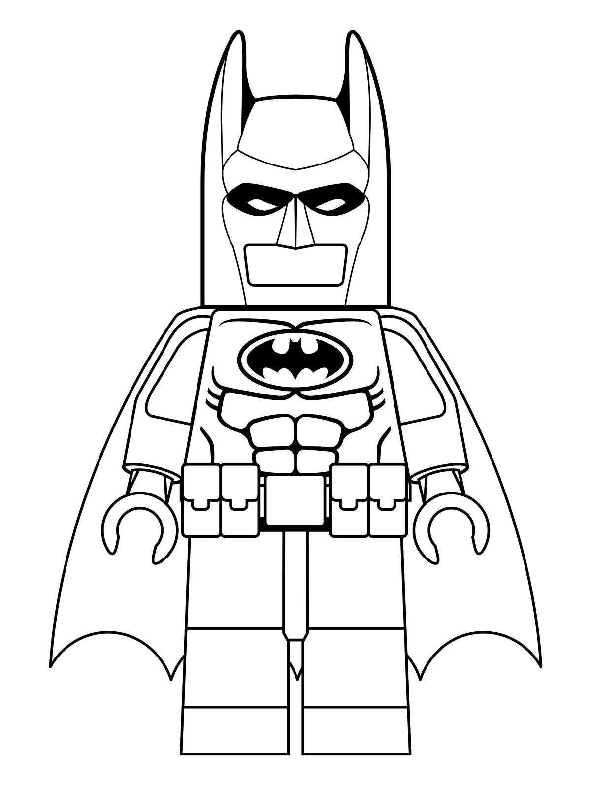 kleurplaten van batman