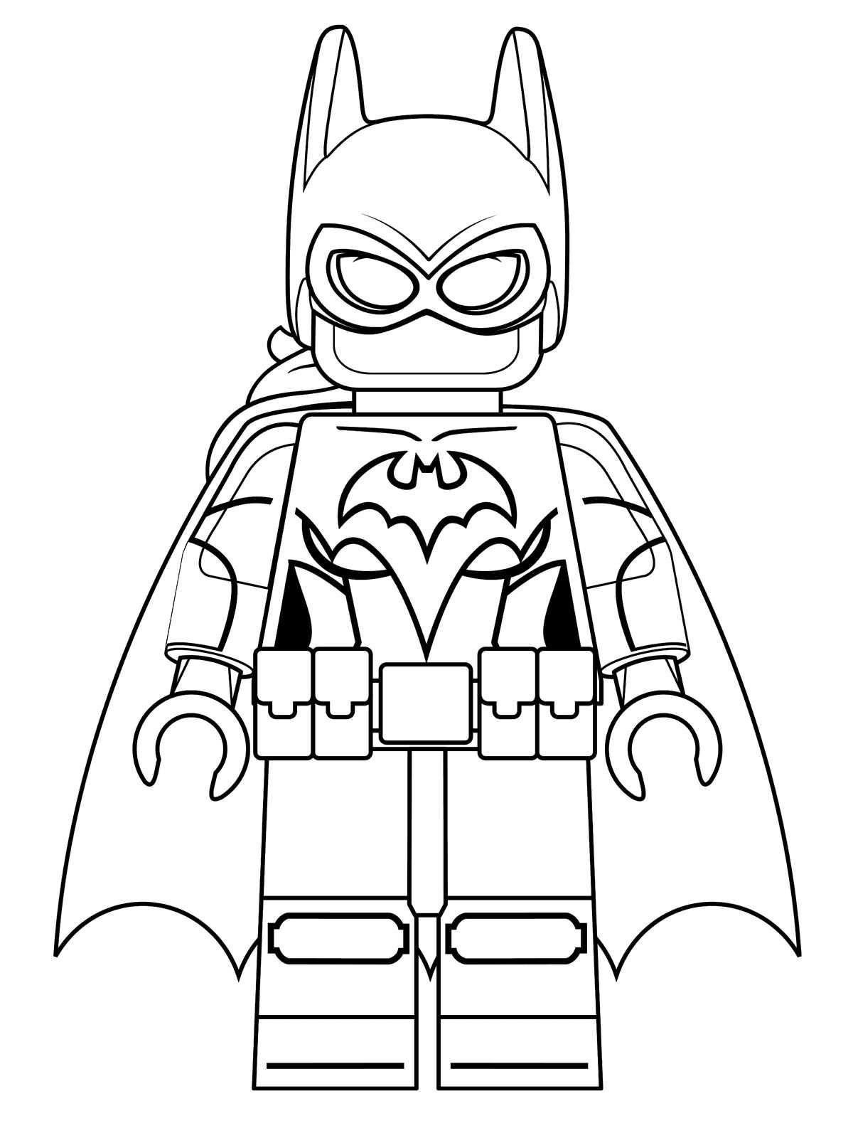 n 16 kleurplaten lego batman