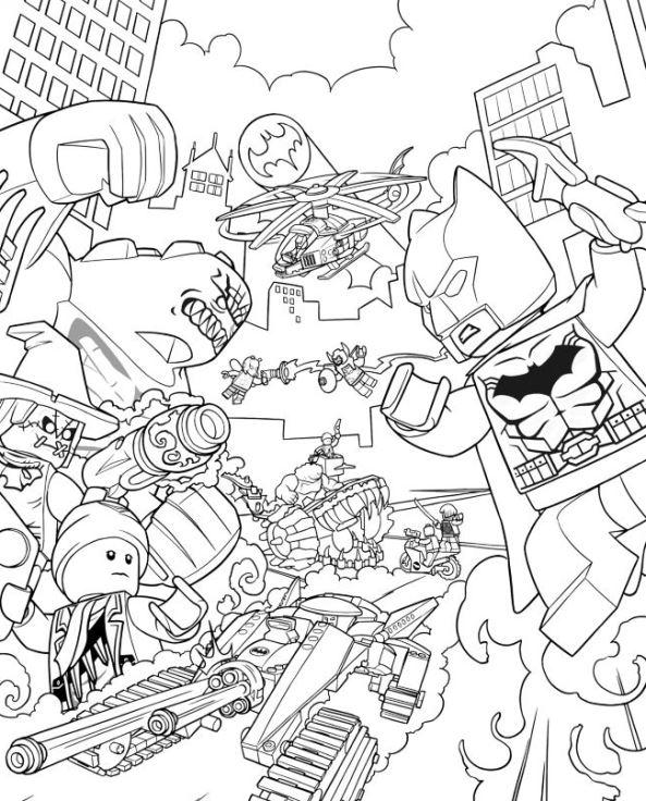 Lego Batman Gorilla Grodd Coloring Page