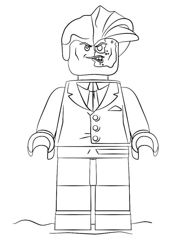 n kleurplaat lego batman two