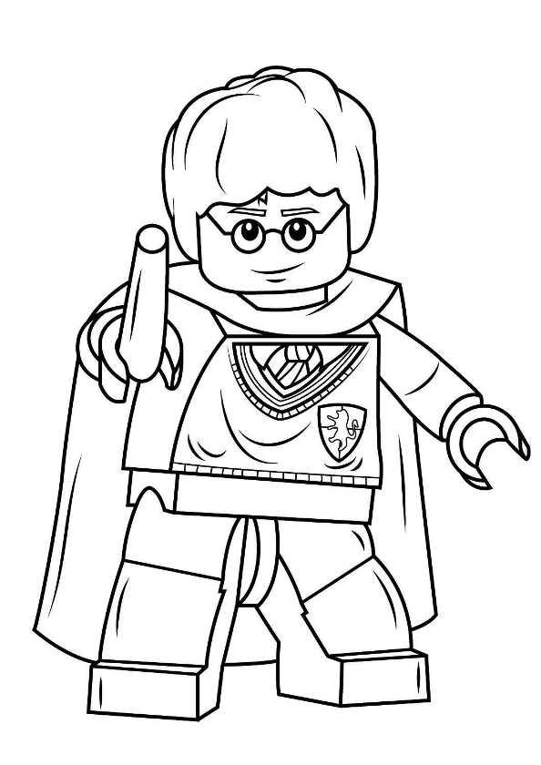 Kleurplaat Harry Potter Lego Archidev