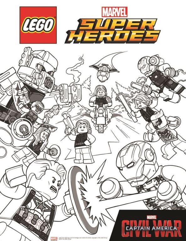 Kleurplaten Lego Marvel.Kids N Fun Kleurplaat Lego Marvel Avengers Avengers Civil War 2