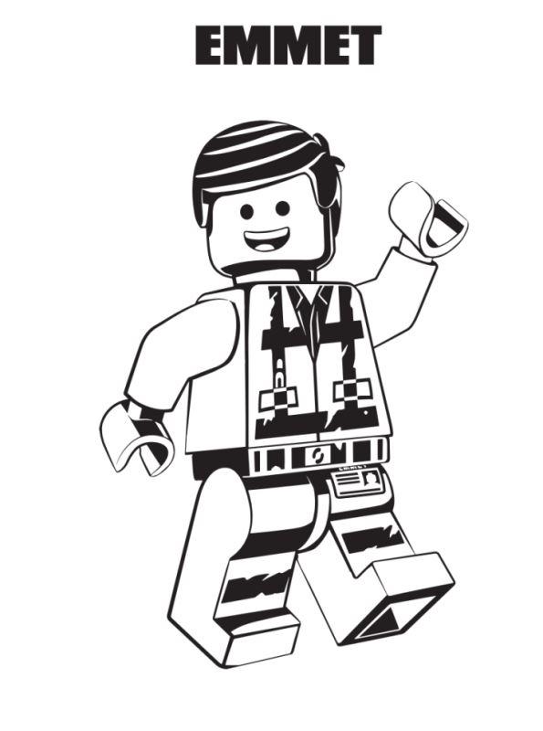 Kleurplaten Lego Film.Kids N Fun Kleurplaat Lego Movie 2 Emmet