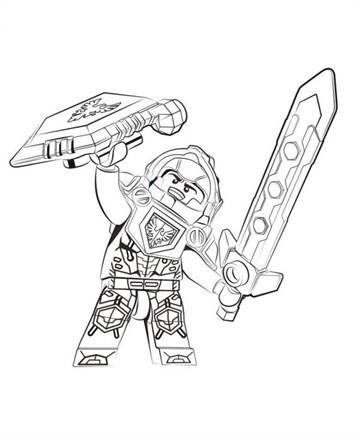 Top Kids-n-fun | 29 Kleurplaten van Lego Nexo Knights &RY63