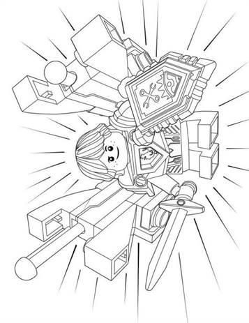 Kleurplaten Lego Nexo.Kids N Fun 29 Kleurplaten Van Lego Nexo Knights