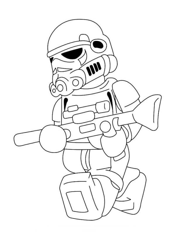 Kleurplaten Lego Star Wars 3.Kids N Fun Kleurplaat Lego Star Wars Trooper