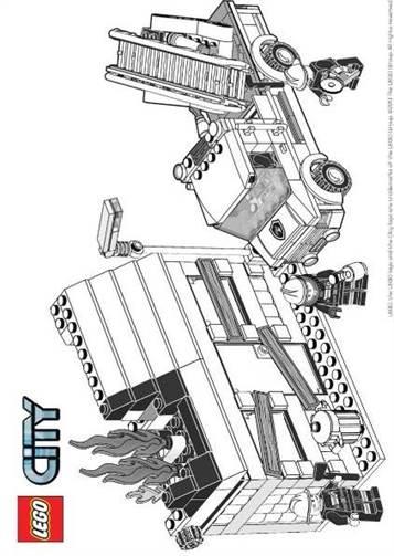 Kleurplaten Lego City Brandweer.Kids N Fun 34 Kleurplaten Van Lego City