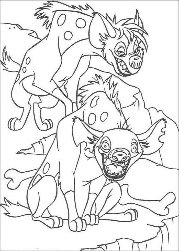 Kleurplaten Van De Leeuwenkoning.Kids N Fun Kleurplaat Lion King Of De Leeuwenkoning De Hyena S