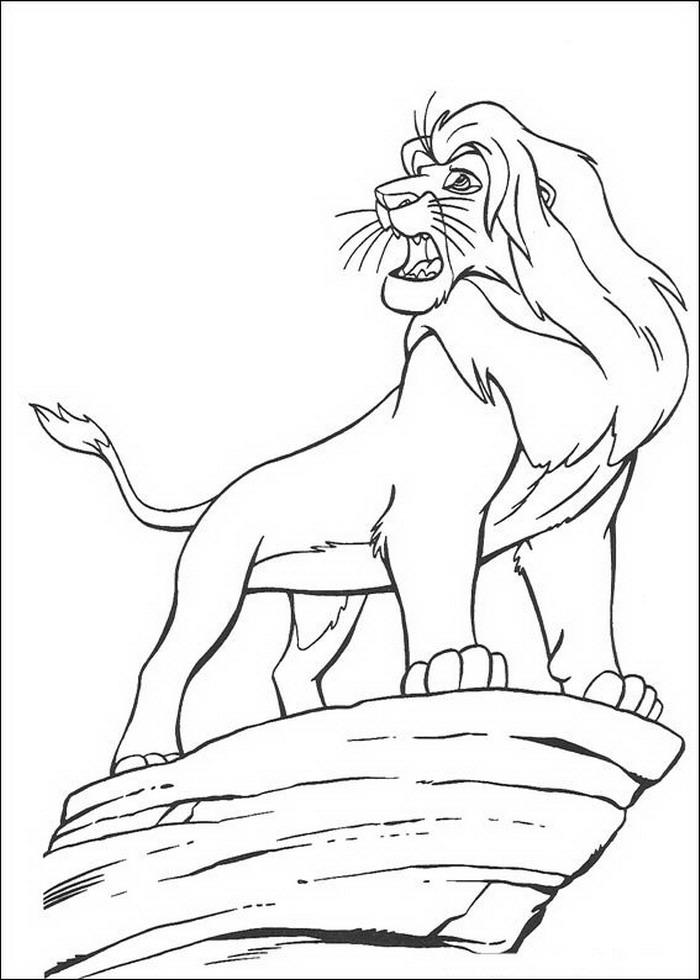 Kids N Fun Kleurplaat Lion King Of De Leeuwenkoning Simba