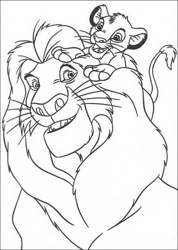 Kids N Fun 92 Kleurplaten Van Lion King Of De Leeuwenkoning