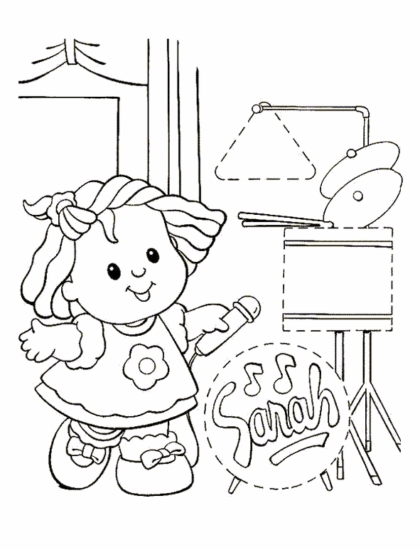 little people coloring pages kids n fun kleurplaat little people little people