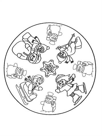 Gratis Kleurplaten Kerst Mandala.Kids N Fun 36 Kleurplaten Van Mandala Kerstmis
