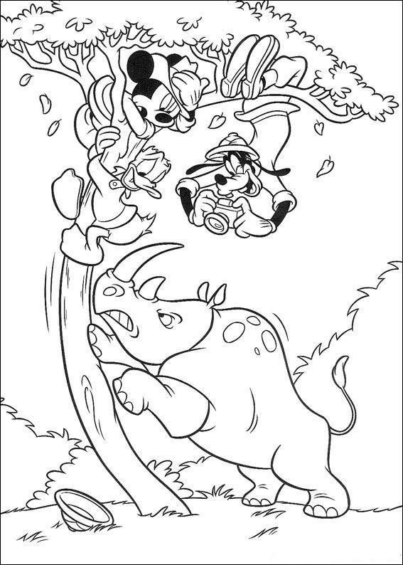 Kleurplaten Dieren In Het Wild Kids N Fun 23 Kleurplaten Van Mickey Op Safari